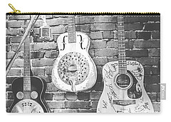 Vintage Guitar Trio In Black And White Carry-all Pouch