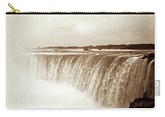 Carry-all Pouch featuring the photograph Vintage Horsehoe Falls Niagara by Marilyn Hunt