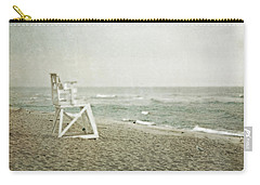 Vintage Inspired Beach With Lifeguard Chair Carry-all Pouch