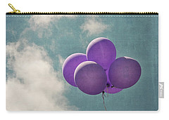 Vintage Inspired Purple Balloons In Blue Sky Carry-all Pouch