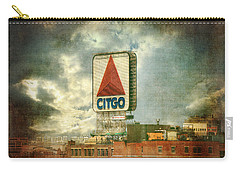 Vintage Kenmore Square Citgo Sign - Boston Red Sox Carry-all Pouch by Joann Vitali