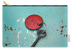 Vintage Key With Red Tag Carry-all Pouch by Jill Battaglia