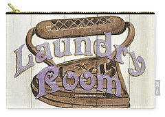 Carry-all Pouch featuring the painting Vintage Laundry Room 1 by Debbie DeWitt