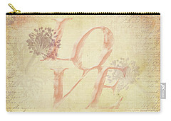 Vintage Love Carry-all Pouch by Caitlyn Grasso