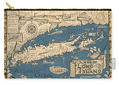 Vintage Map Of Long Island Carry-all Pouch