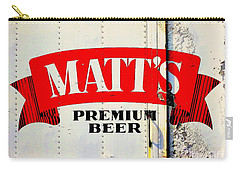 Vintage Matt's Premium Beer Sign Carry-all Pouch