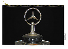 Carry-all Pouch featuring the photograph Vintage Mercedes Radiator Cap by David and Carol Kelly