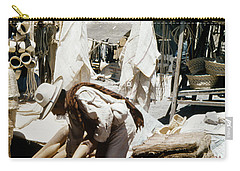 Carry-all Pouch featuring the photograph Vintage Mexican Textiles by Marilyn Hunt