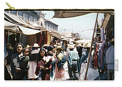 Carry-all Pouch featuring the photograph Vintage Mexico Women Babies by Marilyn Hunt