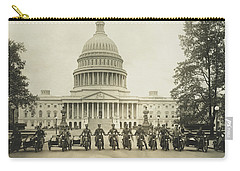 Vintage Motorcycle Police - Washington Dc  Carry-all Pouch