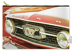 Vintage Mustang Carry-all Pouch by Caitlyn Grasso