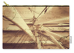Vintage Nautical Sailing Typography In Sepia Carry-all Pouch