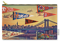 Vintage New York Mets Carry-all Pouch by Steven Parker