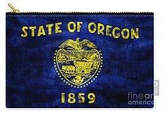 Vintage Oregon Flag Carry-all Pouch by Jon Neidert