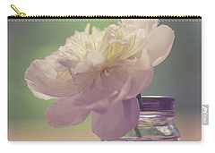 Carry-all Pouch featuring the photograph Vintage Peony Flower Still Life by Edward Fielding