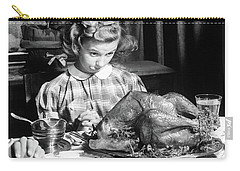 Vintage Photo Depicting Thanksgiving Dinner Carry-all Pouch by American School