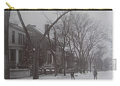 Vintage Photograph 1902 Snowball Fight New Bern Nc Carry-all Pouch