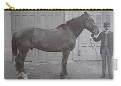 Vintage Photograph 1902 Horse With Handler New Bern Nc Area Carry-all Pouch
