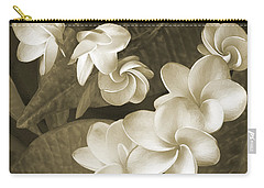 Carry-all Pouch featuring the photograph Vintage Plumeria by Ben and Raisa Gertsberg