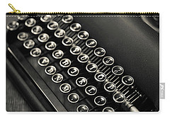 Carry-all Pouch featuring the photograph Vintage Portable Typewriter by Edward Fielding