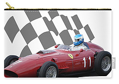 Carry-all Pouch featuring the photograph Vintage Racing Car And Flag 2 by John Colley