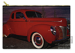 Vintage Red Car Carry-all Pouch by Melissa Messick