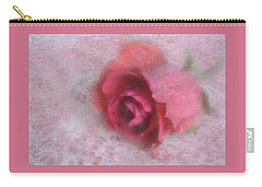 Carry-all Pouch featuring the photograph Vintage Red Rose by Diane Alexander
