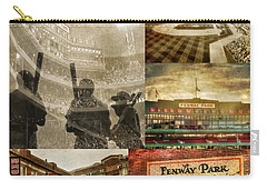 Vintage Red Sox Fenway Park Baseball Collage Carry-all Pouch