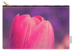 Carry-all Pouch featuring the photograph Vintage Red Tulip Flower by Edward Fielding