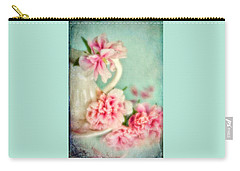 Vintage Romantic Peonies Carry-all Pouch
