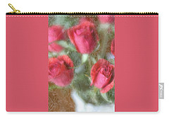 Carry-all Pouch featuring the photograph Vintage Rose Bouquet by Diane Alexander