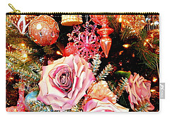 Vintage Rose Holiday Decorations Carry-all Pouch
