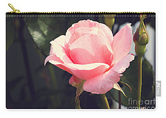 Vintage Rose Carry-all Pouch by Rebecca Davis