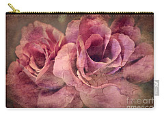 Vintage Roses - Deep Pink Carry-all Pouch by Judy Palkimas