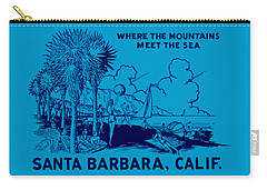 Vintage Santa Barbara Carry-all Pouch