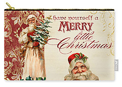 Vintage Santa Claus - Glittering Christmas Carry-all Pouch
