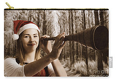 Vintage Santa Elf Searching For Christmas Fun Carry-all Pouch