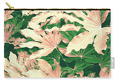 Carry-all Pouch featuring the photograph Vintage Season Pink by Rebecca Harman