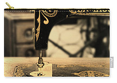Vintage Sewing Machine Carry-all Pouch by Jill Battaglia