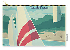 Vintage Style Cape May Lighthouse Travel Poster Carry-all Pouch