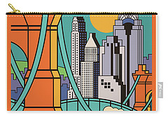 Vintage Style Cincinnati Travel Poster Carry-all Pouch