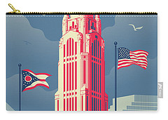 Vintage Style Columbus Travel Poster Carry-all Pouch by Jim Zahniser
