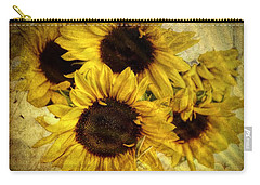 Vintage Sunflowers Carry-all Pouch