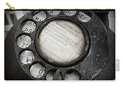 Carry-all Pouch featuring the photograph Vintage Telephone by Lainie Wrightson