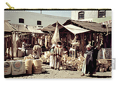 Carry-all Pouch featuring the photograph Vintage Toluca Mexico Market by Marilyn Hunt