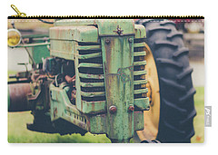 Carry-all Pouch featuring the photograph Vintage Tractor Autumn by Edward Fielding