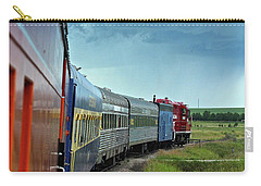 Carry-all Pouch featuring the photograph Vintage Train by Ann E Robson
