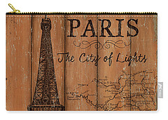Vintage Travel Paris Carry-all Pouch