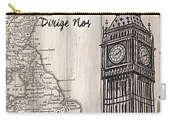 Vintage Travel Poster London Carry-all Pouch by Debbie DeWitt