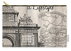 Vintage Travel Poster Madrid Carry-all Pouch